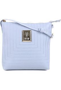 Bolsa Vizzano Mini Bag Transversal Feminina - Feminino-Azul