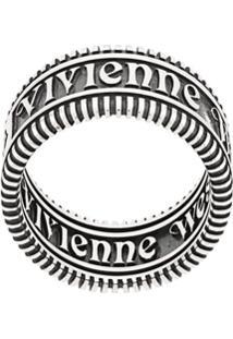 Vivienne Westwood Zip Design Stackable Ring - Prateado