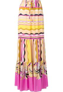 Emilio Pucci Long Drawstring Waist Skirt - Amarelo