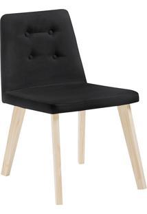 Cadeira Caqui F57-1 Veludo – Daf Mobiliário - Preto
