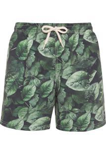 Short Masculino Água Plants - Verde