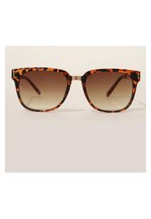 Óculos De Sol Feminino Quadrado Oneself Tartaruga