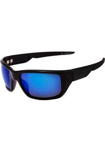 Óculos De Sol Speedo Fireblade A03 Preto/Azul Espelhado