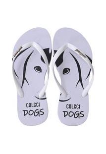 Chinelo Feminino Dogs Colcci Sandália Original Branco