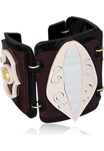 Bracelete Le Diamond Kauane Bordô