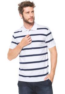 49728fde14 ... Camisa Polo Crocker Reta Listras Branca Azul