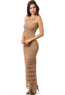 554be3c017 Vestido Longo Trico feminino