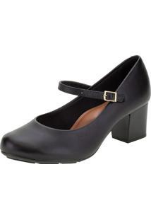 Sapato Feminino Salto Médio Moleca - 5708203 Preto 35