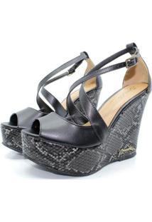 Sandália Barth Shoes Lunar Cobra Feminina - Feminino-Preto