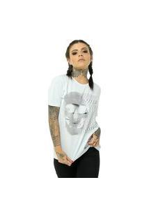 Camiseta Bossa Brasil Web Skull Branco