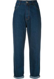 Egrey Calça Jeans Boyfriend - Azul