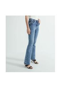 Calça Bootcut Jeans Com Passantes Duplos | Marfinno | Azul | 40