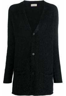 Ma'Ry'Ya Knitted Long Sleeve Cardigan - Preto