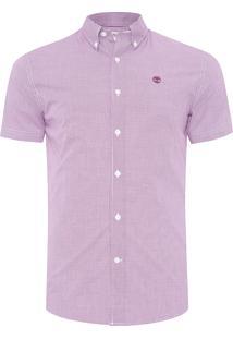 Camisa Masculina Rattle River Gingham - Vinho