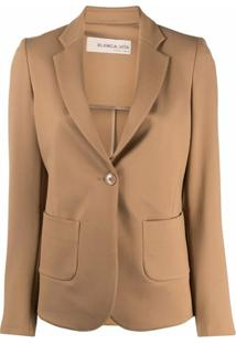 Blanca Vita Single-Breasted Blazer - Marrom