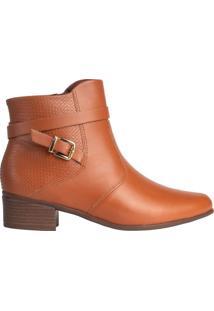 Bota Feminina Comfortflex Ankle Boot Caramelo - 34