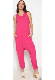 Macacão Liso - Pink - Dedikadedika