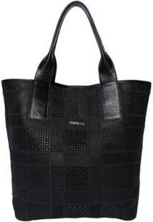 Bolsa Couro Griffazzi Shopping Bag - Feminino-Preto