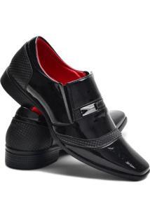 Sapato Social Ruggero Elástico Conforto Masculino - Masculino-Preto