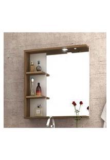 Espelheira Para Banheiro Com Led 60 Cm Mdf Lilies Móveis