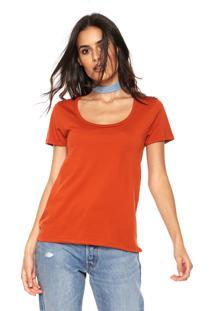 Camiseta Hering Lisa Laranja