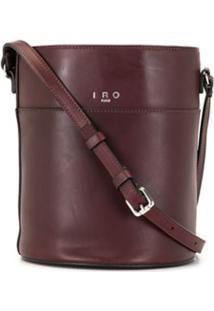Iro Leather Bucket Bag - Vermelho