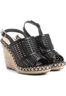 Sandália Anabela Shoestock Tressê Feminina