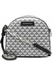 Emporio Armani Logo Print Shoulder Bag - Cinza