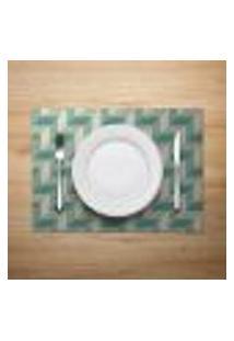Jogo Americano 6Pçs Abstrato Verde - Mdecore
