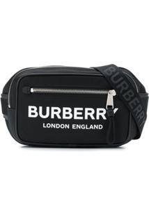 Burberry Pochete Com Estampa De Logo - Preto