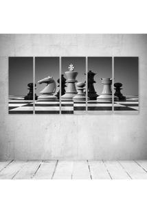 Quadro Decorativo - Xadres Pb - Composto De 5 Quadros - Multicolorido - Dafiti