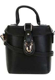 Bolsa Shoestock Crossbody Box Bag Feminina - Feminino-Preto