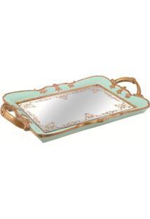Bandeja Mart Com Espelho Celeste 6376 35,5X22,5Cm Azul
