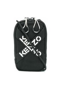 Kenzo Bolsa Transversal Mini Com Logo - Preto