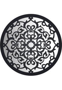 Espelho Woodart Madeira Mandala Preto