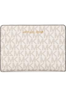 Michael Michael Kors Carteira Grande Com Logo - Branco