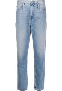 Calvin Klein Jeans Calça Jeans Reta Cintura Alta - Azul