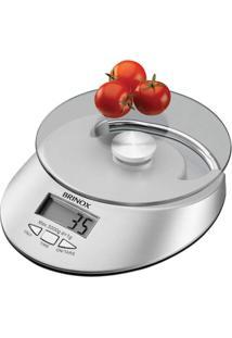 Balança Digital Com Relógio Para Cozinha 5 Kg Brinox