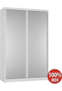 Guarda Roupa 2 Portas Com Espelho 100% Mdf 813E2 Branco - Foscarini