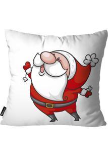 Capa Para Almofada Mdecor De Natal Papai Branco