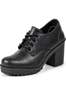 Bota Ankle Boot Luma Ventura Emy Preto