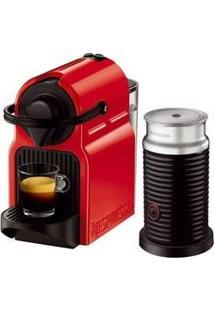 Cafeteira Expresso Nespresso Inissia Red Aeroccino 3 Refresh 220V