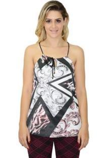 Blusa Moche Feminina - Feminino-Branco+Preto