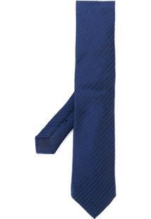 Tom Ford Gravata De Jacquard - Azul