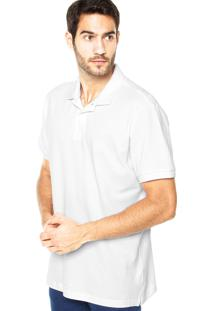Camisa Polo Richards Bordado Branca