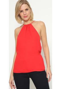 Blusa Com Vazado & Recorte - Vermelhacalvin Klein