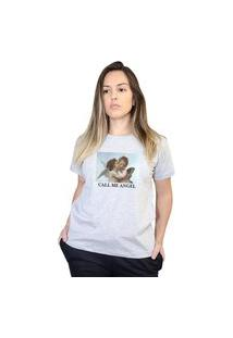 Camiseta Boutique Judith Call Me Angel Cinza