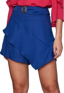 Shorts Saia Garnus Assimétrico Azul