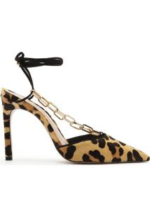 Scarpin Lace-Up Chain Wild Pony | Schutz