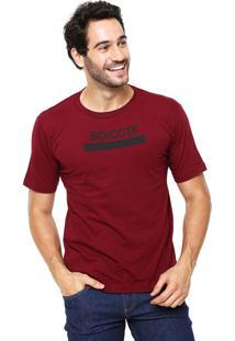 Camiseta Rgx Boicote Bordô